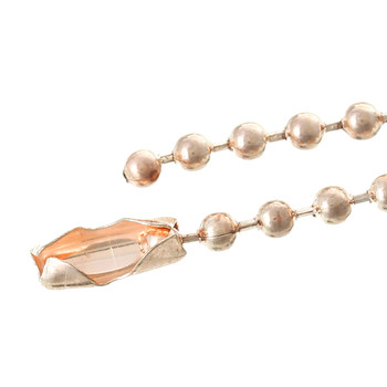 10 Rose Gold Plated 2.4mm Ball Chain Bracelet 27-1/2 Inch Rb36976
