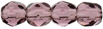 48 FirePolished Faceted Czech Glass Beads 3mm Amethyst 2006