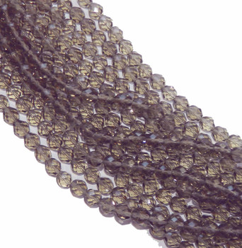 48 FirePolished Faceted Czech Glass Beads 3mm Black Diamond 4001