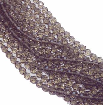 48 FirePolished Faceted Czech Glass Beads 3mm Black Diamond 4001
