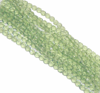 48 FirePolished Faceted Czech Glass Beads 3mm Lime Green 5040