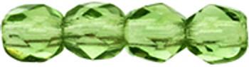 48 FirePolished Faceted Czech Glass Beads 3mm Prairie Green 5031