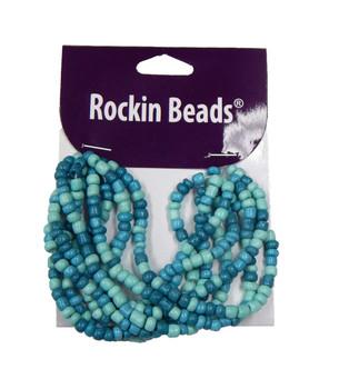 Aqua Irregular Mixed Seed And Bead From India Si-40566 Ba783935148947