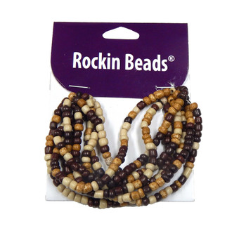 Brown, Dark Brown And Light Brown Irregular Mixed Seed And Bead From India Si-40570 Ba783935149029