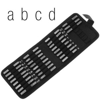 27 Piece Lowercase Gothic Font Alphabet Metal Punch Set - 6mm Characters Lps60Lc