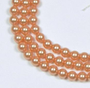 "200 Swarovski Pearls 3mm Round Beads 5810. 24"" Loose Strand Rose Peach 581003Ropea"""