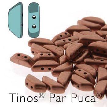 Copper Gold Matte Tinos Par Puca Trapezoid 2-Hole 30 Czech Glass Beads Hp-Tns410-00030-01780-30Pc