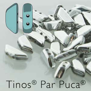 Argentees Tinos Par Puca Trapezoid 2-Hole 30 Czech Glass Beads Hp-Tns410-00030-27000-30Pc