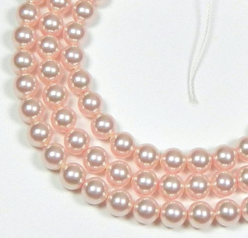 "100 Swarovski Crystal Pearls 4mm Round Beads 5810. 16"" Loose Strand Rose 581004Ros"