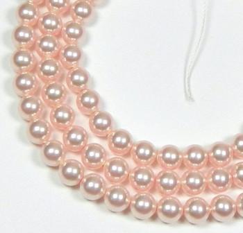 "100 Swarovski Crystal Pearls 4mm Round Beads 5810. 16"" Loose Strand Rose 581004Ros"