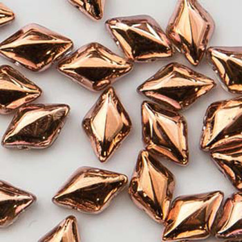 Gemduo 8x5mm Crystal Capri 2-Holes Diamond Shape Beads, 30 Beads