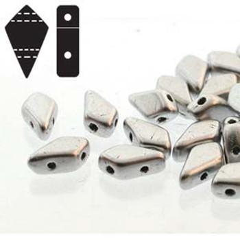 9x5mm 2-Hole Kite Bead Bronze Aluminum Czech Glass Beads
