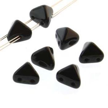 2 Hole Super Kheops 6mm Jet 30 Czech Pressed Glass Beads
