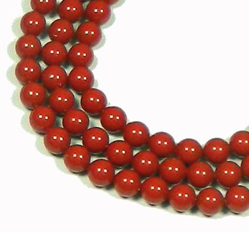"100 Swarovski Crystal Pearls 4mm Round Beads 5810. 16"" Loose Strand Red Coral 581004Crc"