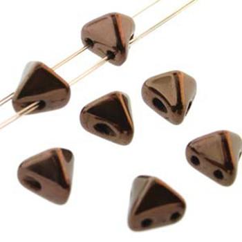 2 Hole Super Kheops 6mm Dark Bronze 30 Czech Pressed Glass Beads