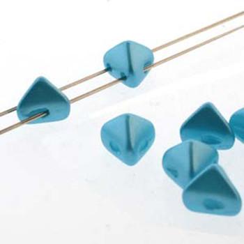 2 Hole Super Kheops 6mm Pastel Aqua 30 Czech Pressed Glass Beads