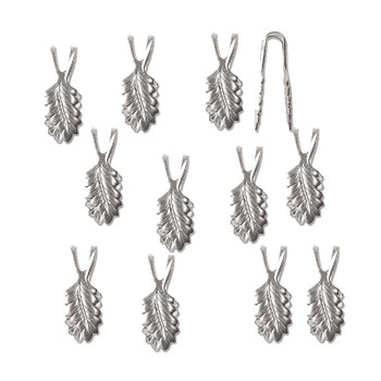 Glue On Bail Leaf 13mm Silver Plated Brass Pendant & Findings 144Pc Bl09Sp