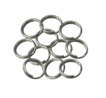 24 Split Ring Keychain Nickel Plated Spring Steel 22mm Usa 90402