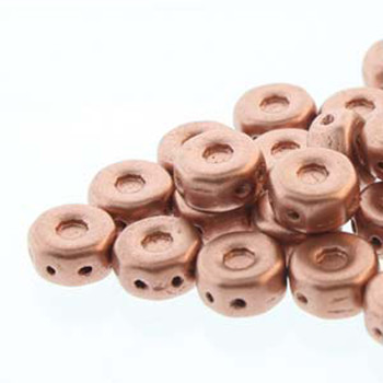 Octo 8x4mm 3-Hole Coin Bronze Pale Gold Copper 20 Czech Glass Beads