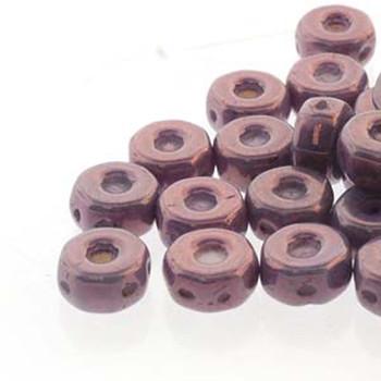 Octo 8x4mm 3-Hole Coin Chalk Purple Vega 20 Czech Glass Beads