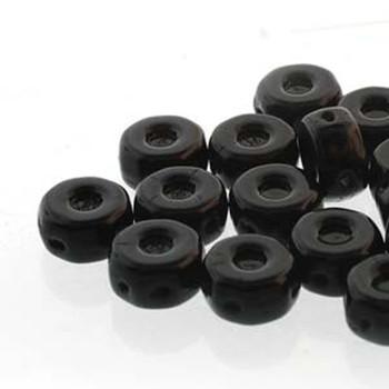 Octo 8x4mm 3-Hole Coin Jet 20 Czech Glass Beads