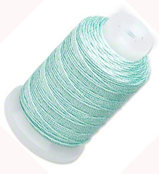 Silk Beading Thread Cord Size E Turquoise 0.0128 Inch 0.325mm Spool 200 Yd