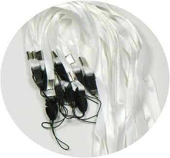 50 White Neck Strap Lanyard For Id Card Or Cell Phone 36 Inch Long Rb07384