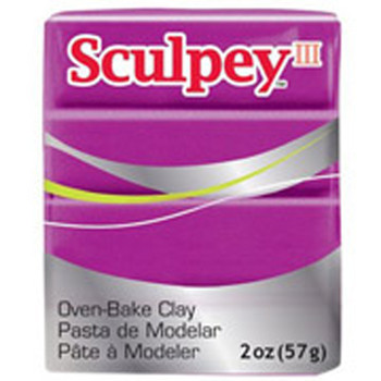 Sculpey Iii Original Polymer Clay, 2Oz, Fuchsia Pearl Pfms1112