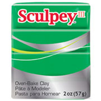 Sculpey Iii Original Polymer Clay, 2Oz, Emerald Green Pfms323
