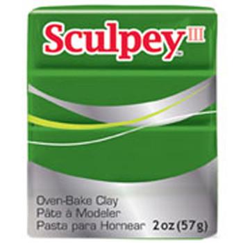 Sculpey Iii Original Polymer Clay, 2Oz, Leaf Green Pfms322
