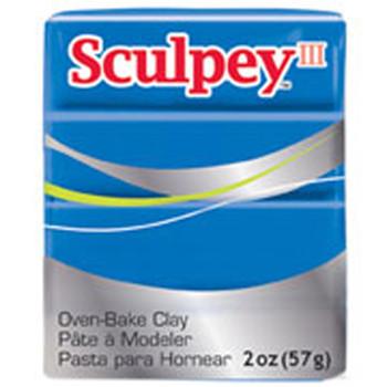 Sculpey Iii Original Polymer Clay, 2Oz, Blue Pfms063