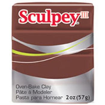 Sculpey Iii Original Polymer Clay, 2Oz, Chocolate Pfms053