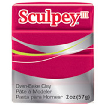 Sculpey Iii Original Polymer Clay, 2Oz, Deep Red Pearl Pfms1140