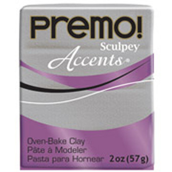Sculpey Premo Accents Polymer Clay 2Oz White Gold Glitter 10013667
