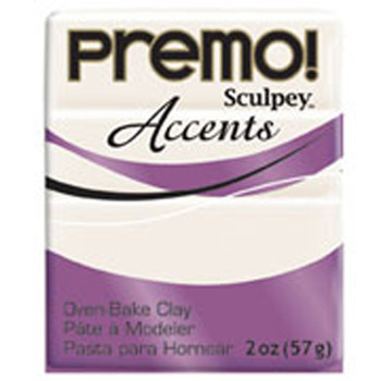 Sculpey Premo Accents Polymer Clay 2Oz Pearl Pfm5101