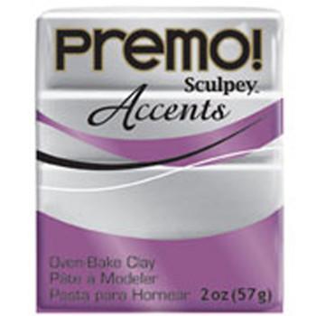 Sculpey Premo Accents Polymer Clay 2Oz Silver Pfm5129