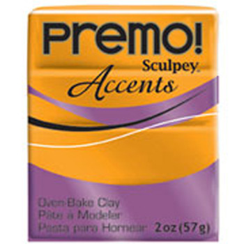 Sculpey Premo Accents Polymer Clay 2Oz Gold Pfm5303
