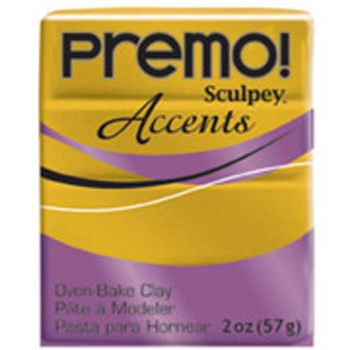Sculpey Premo Accents Polymer Clay 2Oz Antique Gold Pfm5517