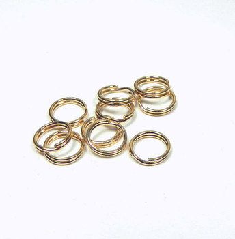 Split Ring 14Kt Gold-Filled 7.3mm Round 0.05-Inches Thick 10 Pack 9253Fd