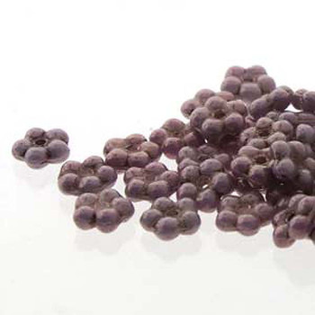 Purple Vega Chalk Forget-Me-Not 5mm Czech Glass Fower Spacer Daisy Beads 20 Grams