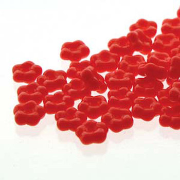 Light Red Opaque Forget-Me-Not 5mm Czech Glass Fower Spacer Daisy Beads 20 Grams