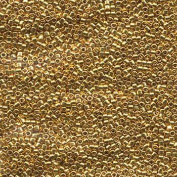 Db031 Gold 24K Plated 11/0 Delica Aprx 7 Grams Glass Seed Beads