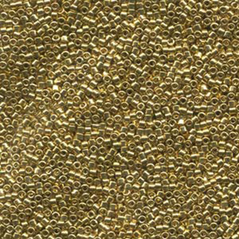 Db034 Lt24Kt Gold Plated 11/0 Delica Aprx 7 Grams Glass Seed Beads
