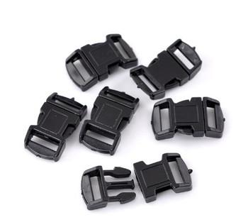 """50 Sets Black Para Cord Survival Bracelets Plastic Buckle 1 1/8""""x 5/8"""" Findings Rb22085"""