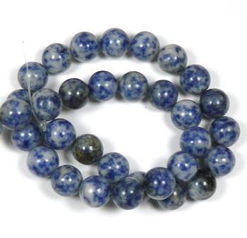 """12mm Denim Lapis Round Beads 40Cm 15"""" Stone B1-12B27"""