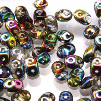 Superduo Crystal Vitrail 2.5x5mm 2 Hole Glass Seed Beads 22 Grams Du0500030-28101