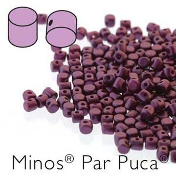Pastel Bordeaux Minos Par Puca 2 5x3mm Cylinder Czech Glass Beads 5 Grams