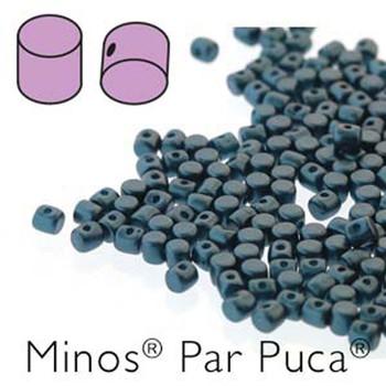 Pastel Petrol Minos Par Puca 2 5x3mm Cylinder Czech Glass Beads 5 Grams
