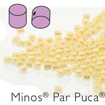 Pastel Cream Minos Par Puca 2 5x3mm Cylinder Czech Glass Beads 5 Grams