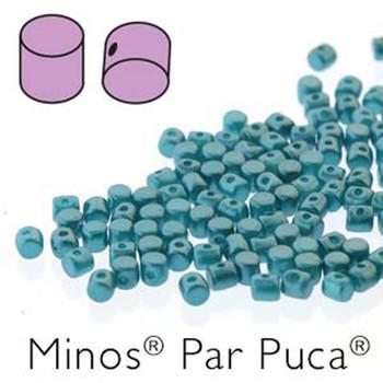 Pastel Emerald Minos Par Puca 2 5x3mm Cylinder Czech Glass Beads 5 Grams